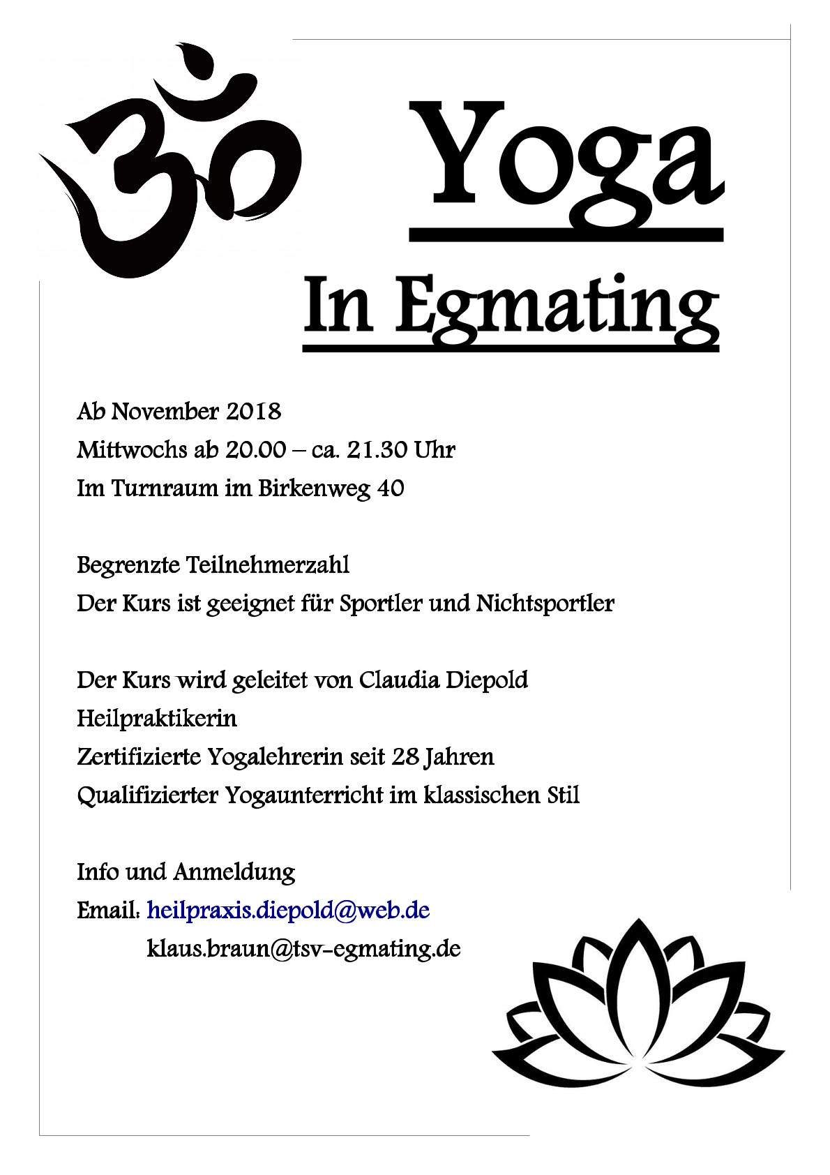 Yoga in Egmating
